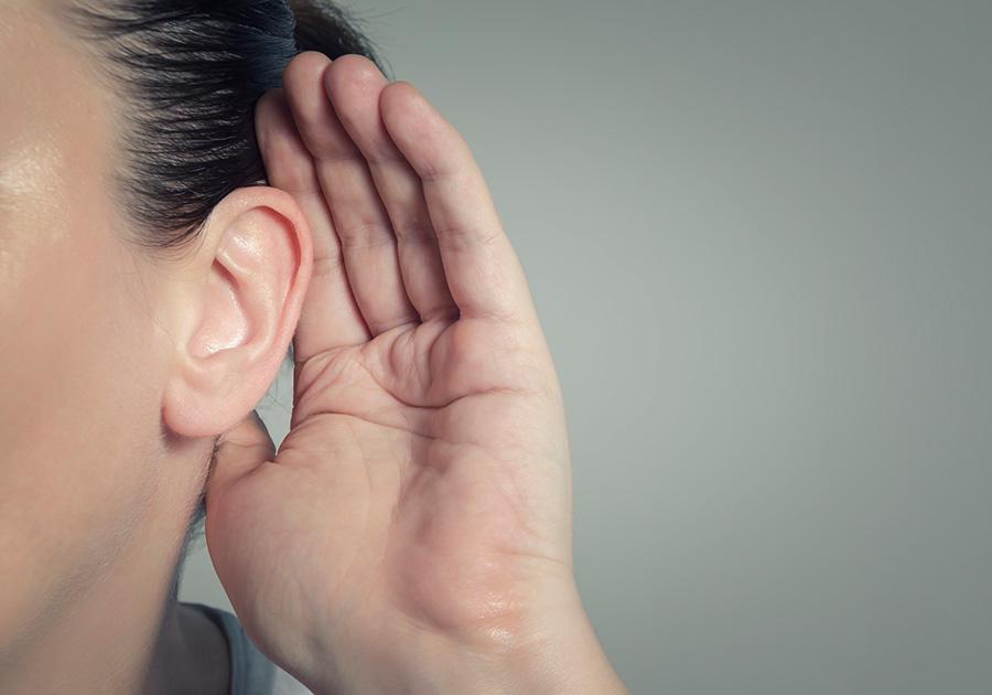 hand on ear