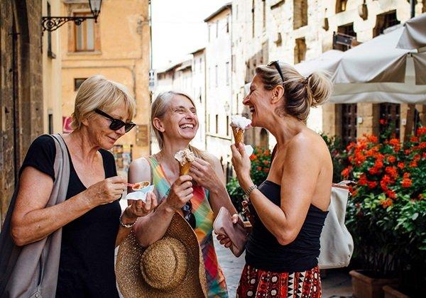 women eating icecream