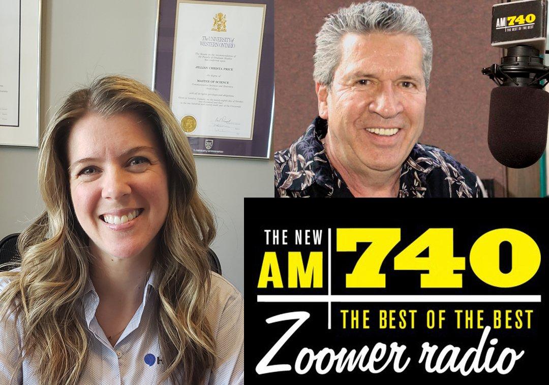 Chief Audiologist Jillian Price and Zoomer radio host Robbie Lane