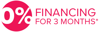 0% financing for 3 months