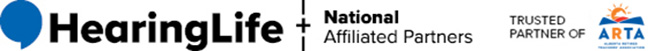 HearingLife Logo and National Affiliated Partners - Trusted Partner of ARTA