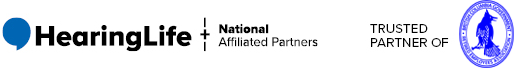 HearingLife Logo and National Affiliated Partners - Trusted Partner of BCGREA