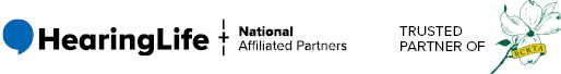 HearingLife Logo and National Affiliated Partners - Trusted Partner of BCRTA