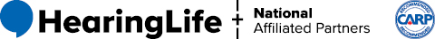 HearingLife Logo and National Affiliated Partners - CARP logo