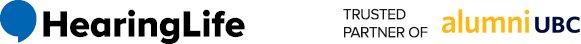 HearingLife Logo and National Affiliated Partners and alumni UBC