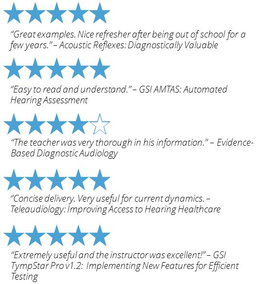Audiology education courses reviews