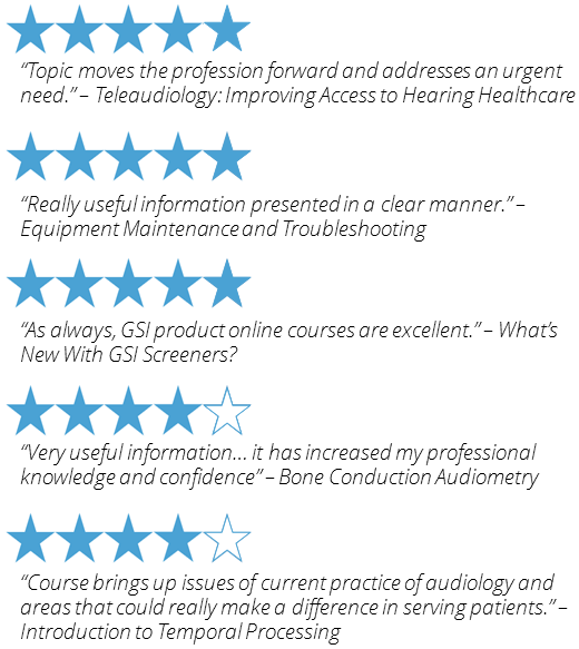 Audiometry education courses reviews
