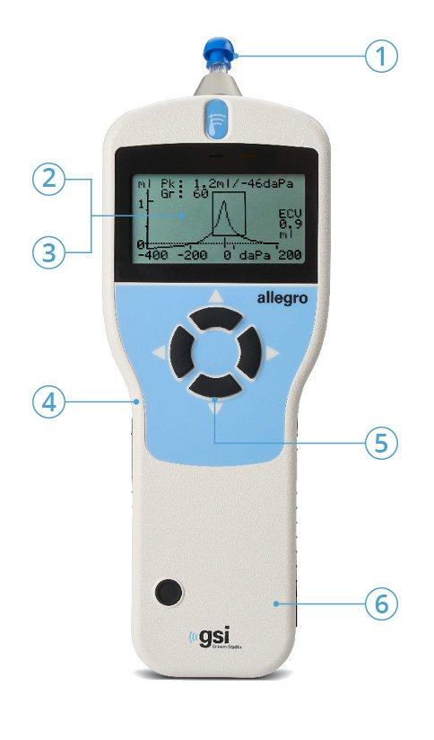 Allegro Handheld Tympanometer Features