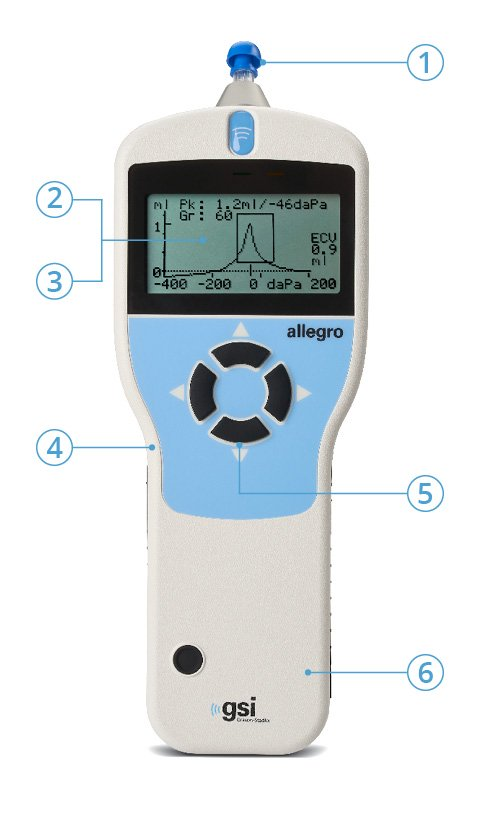 Allegro Handheld Tympanometer Features