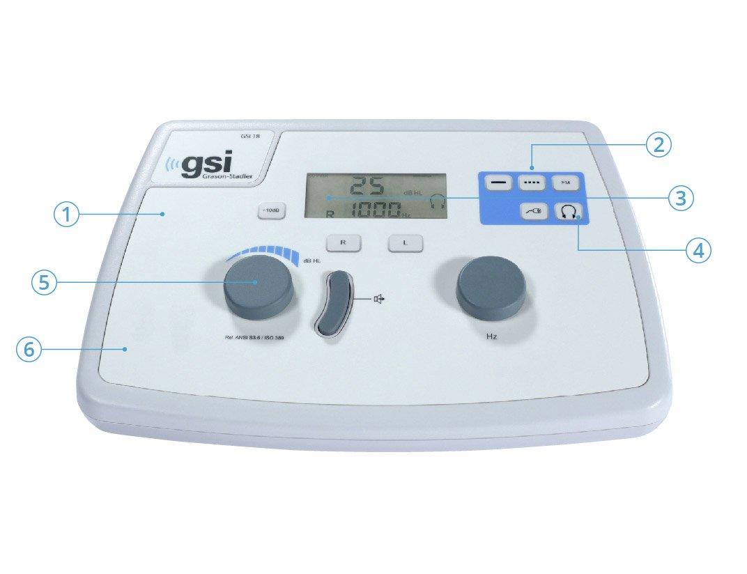 GSI 18 audiometer features