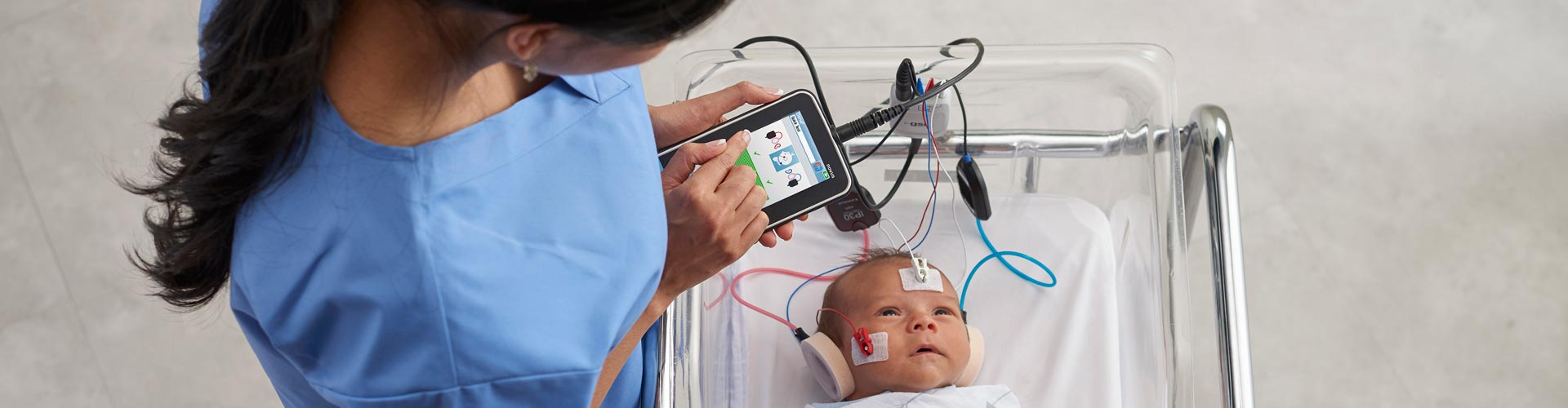 Audiologist AABR Testing Baby