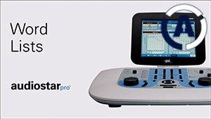 AudioStar Pro Word Lists Tutorial