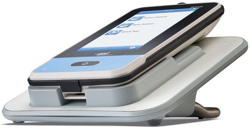 GSI Novus AABR screener in the charging cradle