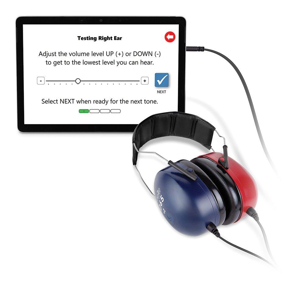 Kiosk Tablet and DD65v2 Headphones