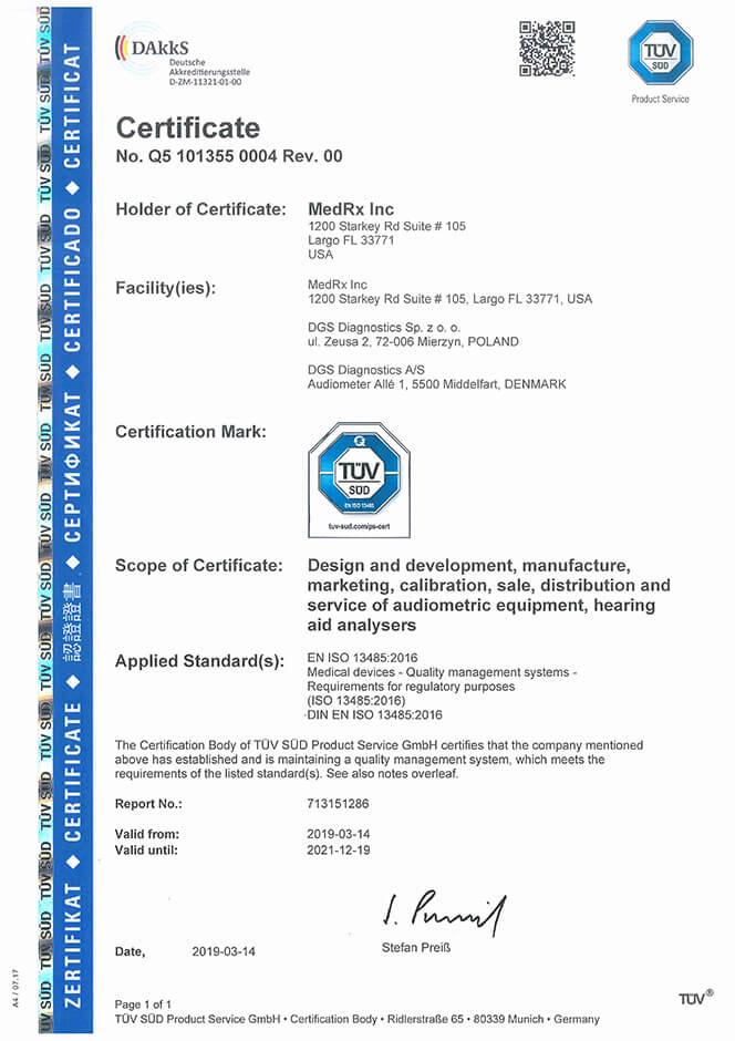 MedRx BSI Certifications