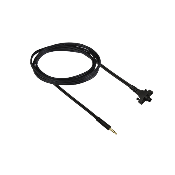 Circumaural Headband cable with one straight stereo mini jack