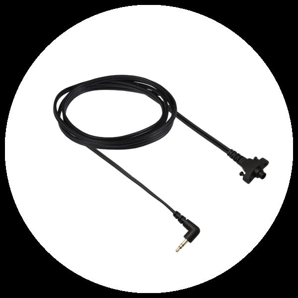 Circumaural Headband cable with one 90deg stereo mini jack