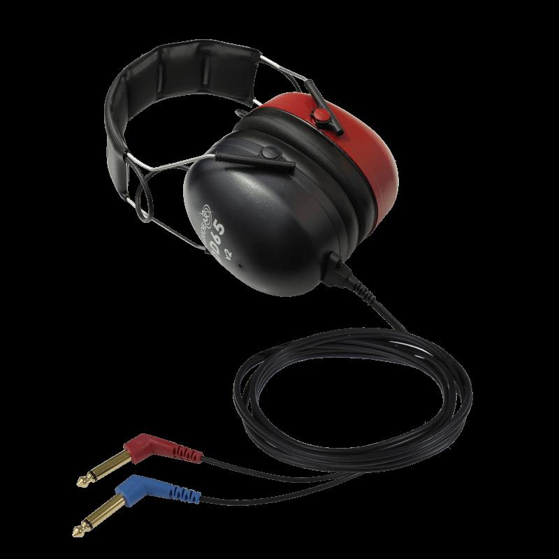 DD65v2 Audiometric Headset with two 30deg mono jacks