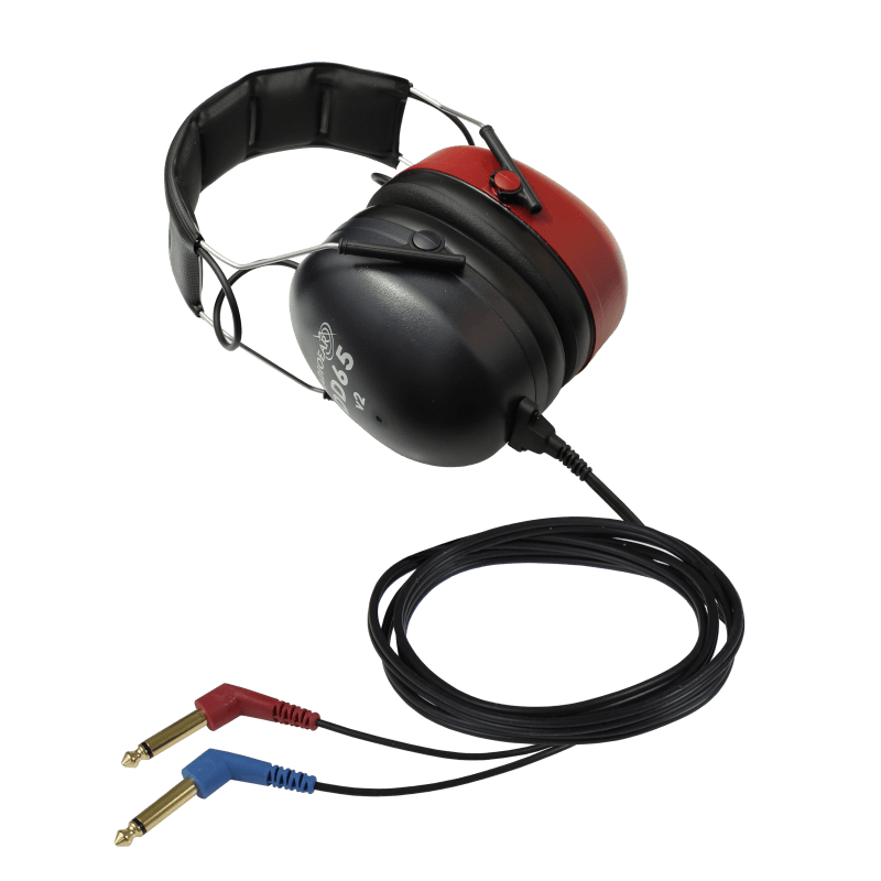 DD65v2 Audiometric Headset with two 30deg mono jacks