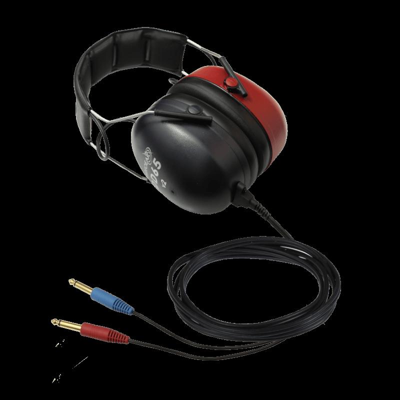 DD65v2 Audiometric Headset with two straight mono jacks
