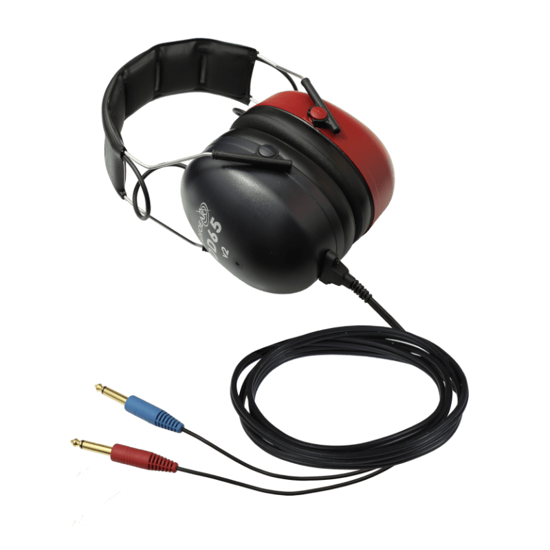 DD65v2 Audiometric Headset with two straight mono jacks