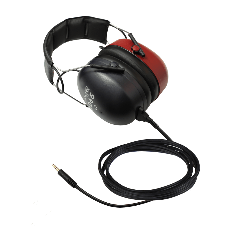 DD65v2 Audiometric Headset with one straight stereo mini jack