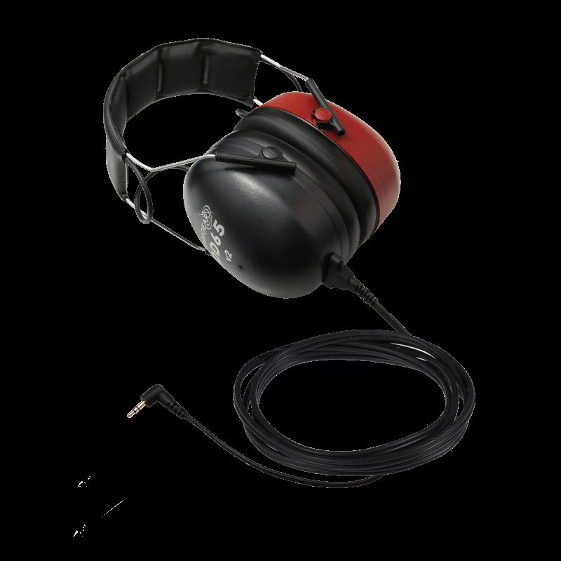 DD65v2 Audiometric Headset with one 90deg stereo mini jack
