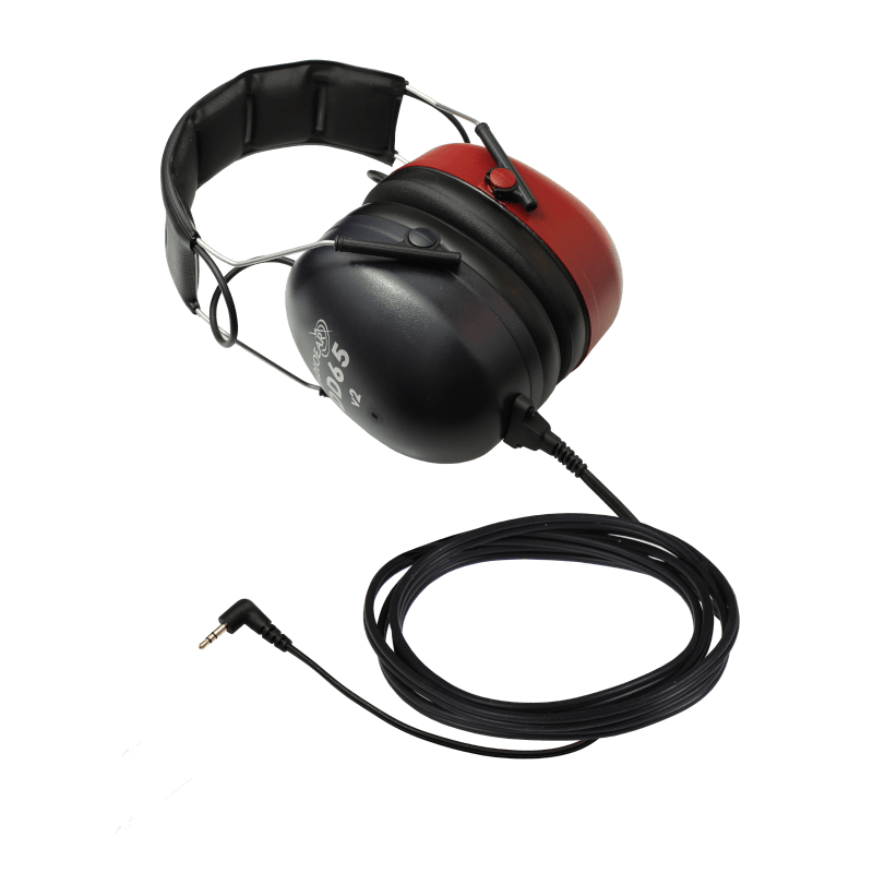 DD65v2 Audiometric Headset with one 90deg stereo mini jack