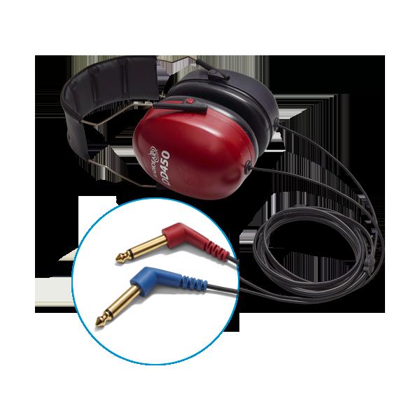 DD450 audiometric air transducer headset