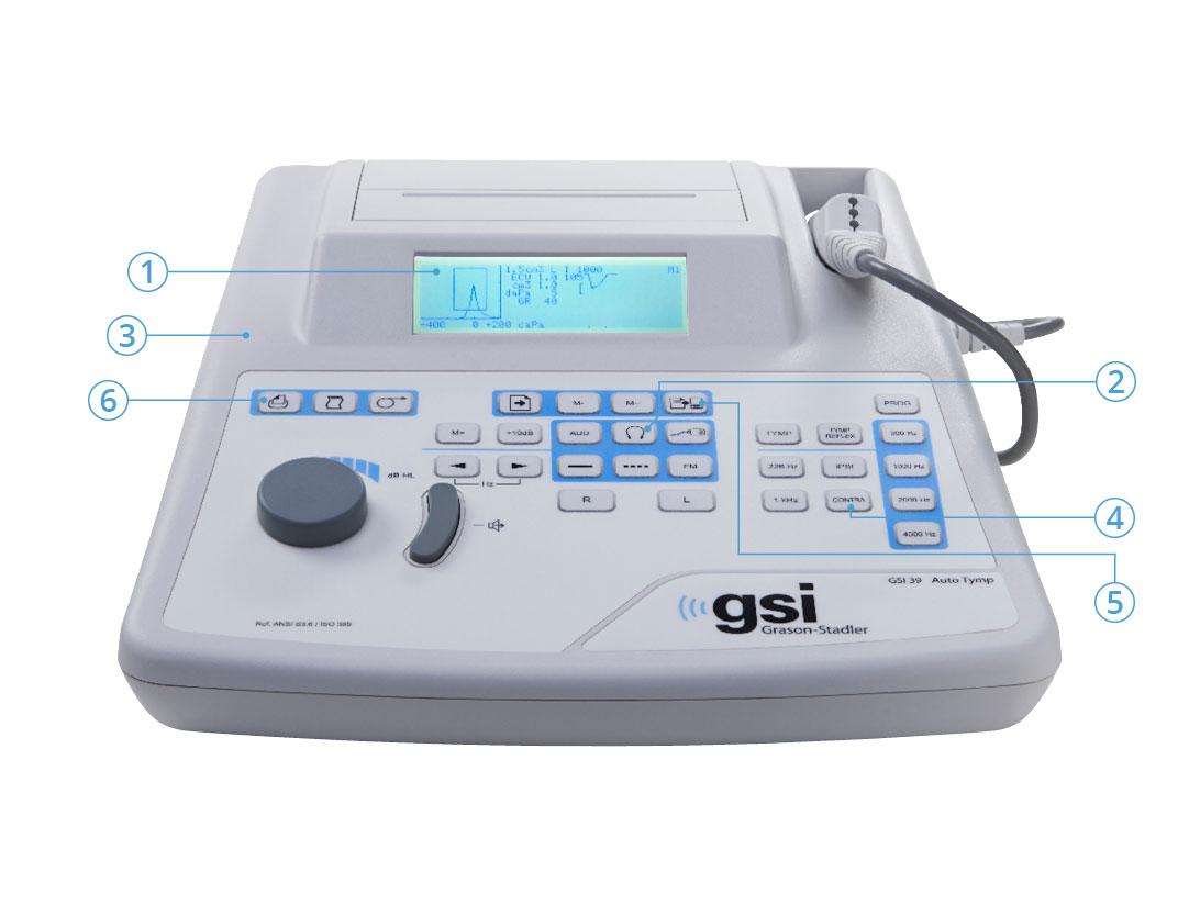 GSI 39 Audiometer Tympanometer Features