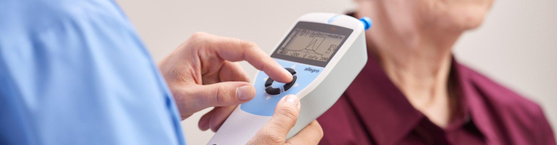 Audiologist Middle Ear Evaluation Patient
